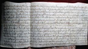 1631 Vellum Indenture final concord Trinity Term 7 Charles I, Clement Walker Esq 1 messuage in Debtford, Kent (2)
